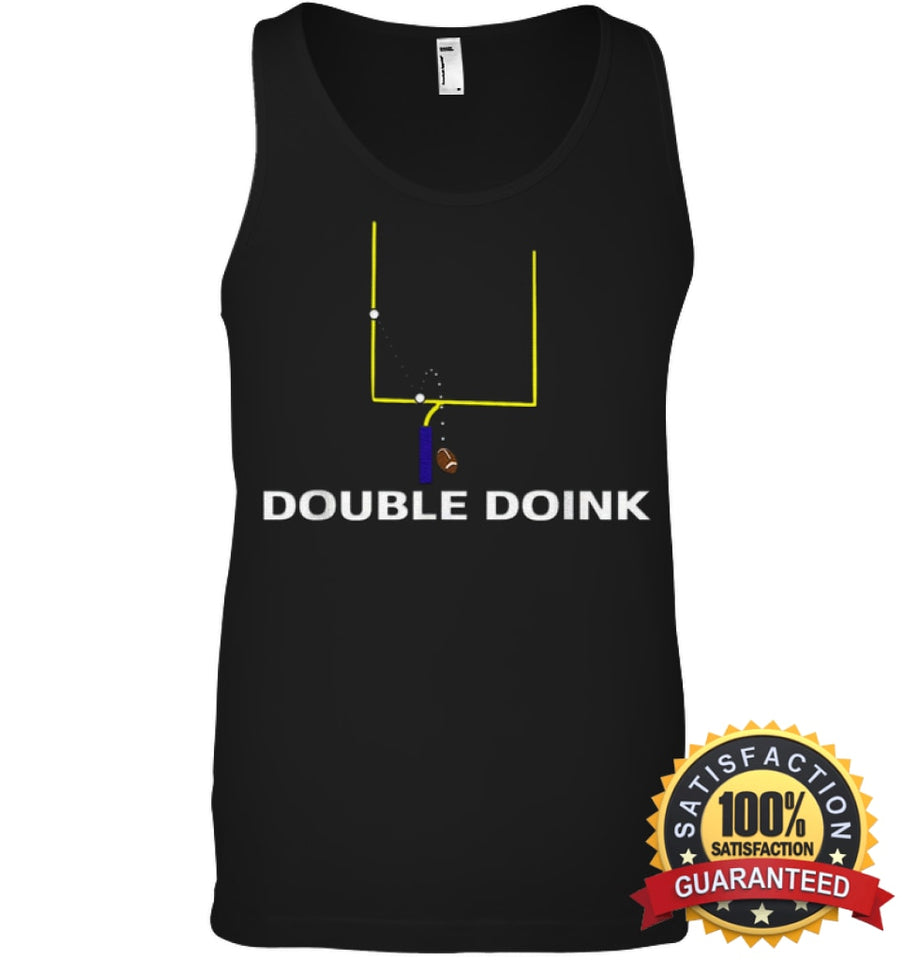 Double Doink Football Tee By Apopro T Shirt Canvas Unisex Ringspun Tank / Black Xs Apparel