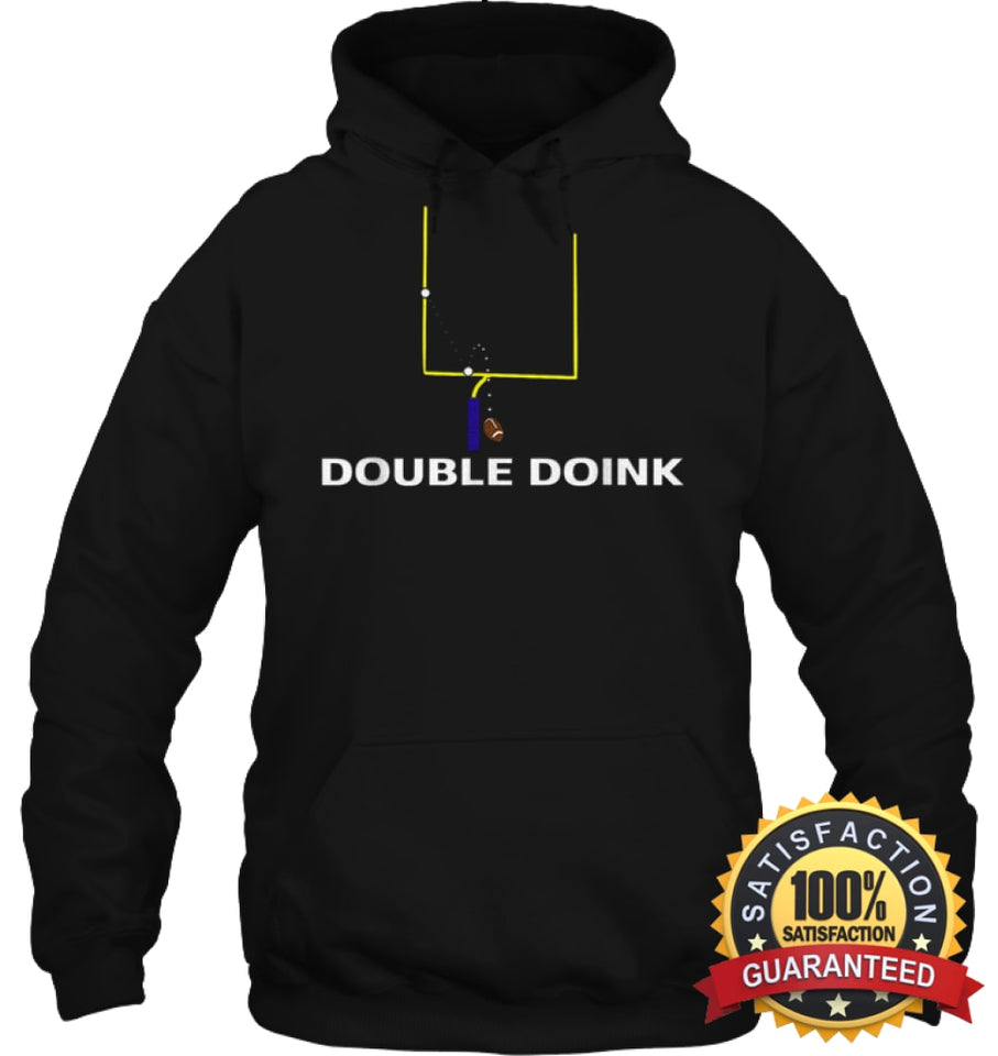 Double Doink Football Tee By Apopro T Shirt Unisex Heavyweight Pullover Hoodie / Black S Apparel
