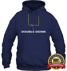 Double Doink Football Tee By Apopro T Shirt Unisex Heavyweight Pullover Hoodie / Navy S Apparel