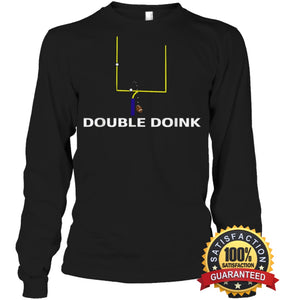 Double Doink Football Tee By Apopro T Shirt Unisex Long Sleeve Classic / Black S Apparel