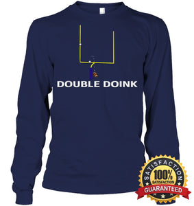 Double Doink Football Tee By Apopro T Shirt Unisex Long Sleeve Classic / Navy S Apparel