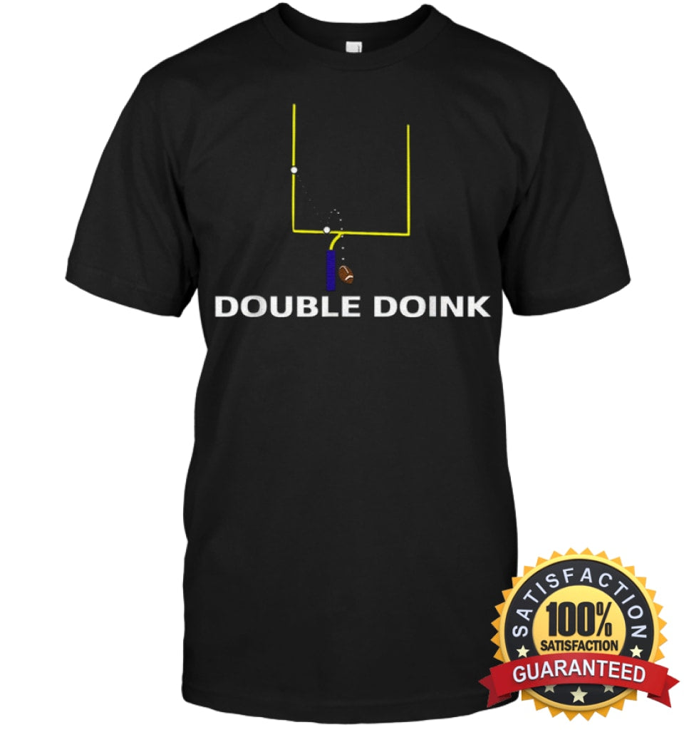 Double Doink Football Tee By Apopro T Shirt Unisex Short Sleeve Classic / Black S Apparel