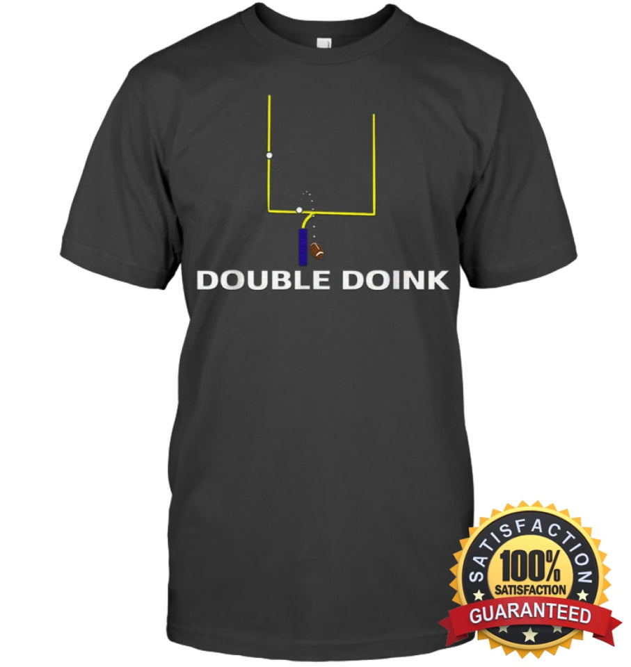Double Doink Football Tee By Apopro T Shirt Unisex Short Sleeve Classic / Charcoal Heather S Apparel
