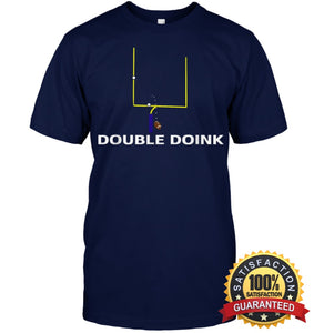 Double Doink Football Tee By Apopro T Shirt Unisex Short Sleeve Classic / Navy S Apparel