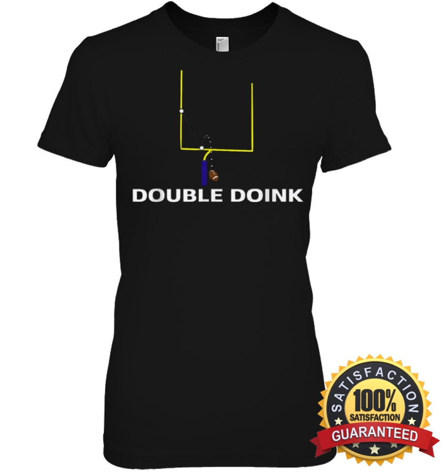 Double Doink Football Tee By Apopro T Shirt Womens Relaxed Fit / Black S Apparel