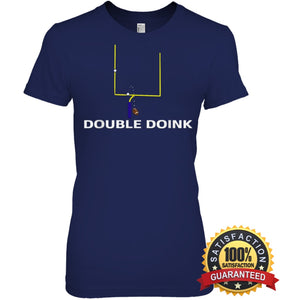 Double Doink Football Tee By Apopro T Shirt Womens Relaxed Fit / Navy S Apparel