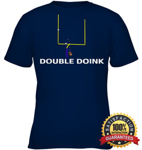 Double Doink Football Tee By Apopro T Shirt Youth Classic / Navy Xs Apparel