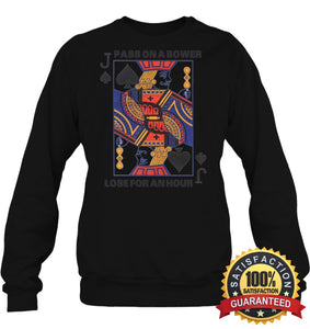Euchre Shirt Unisex Fleece Pullover Sweatshirt / Black S Apparel