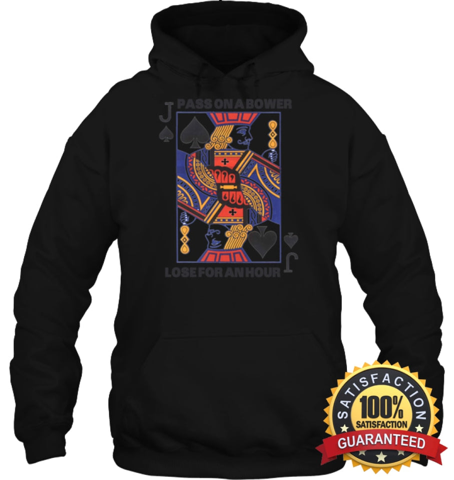 Euchre Shirt Unisex Heavyweight Pullover Hoodie / Black S Apparel