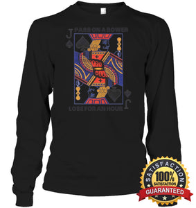 Euchre Shirt Unisex Long Sleeve Classic Tee / Black S Apparel
