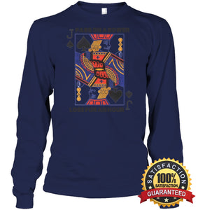 Euchre Shirt Unisex Long Sleeve Classic Tee / Navy S Apparel