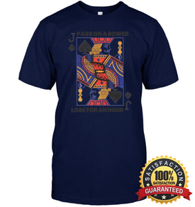 Euchre Shirt Unisex Short Sleeve Classic Tee / Navy S Apparel