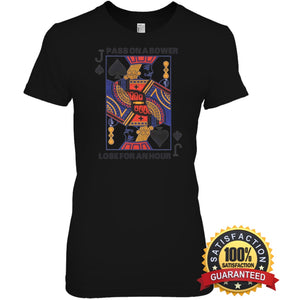 Euchre Shirt Womens Relaxed Fit Tee / Black S Apparel