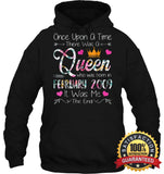 Girls 10Th Birthday Queen February 2009 Shirt T Shirt Unisex Heavyweight Pullover Hoodie / Black S
