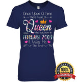 Girls 10Th Birthday Queen February 2009 Shirt T Shirt Womens Relaxed Fit Tee / Navy S Apparel