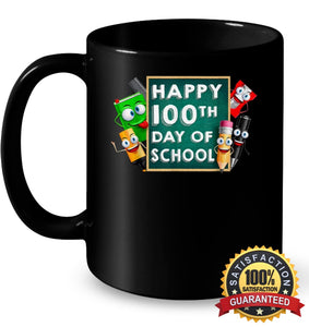 Happy 100Th Day Of School T-Shirt For Kids Boys And Girls T Shirt 11Oz Ceramic Mug / Black One-Size