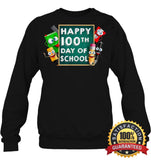 Happy 100Th Day Of School T-Shirt For Kids Boys And Girls T Shirt Unisex Fleece Pullover Sweatshirt
