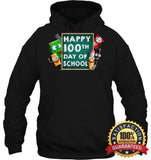 Happy 100Th Day Of School T-Shirt For Kids Boys And Girls T Shirt Unisex Heavyweight Pullover Hoodie