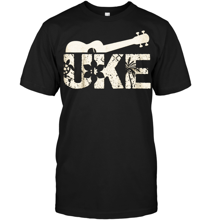 Uke Hawaiian Ukulele Guitar Player Hawaii Music T-Shirt