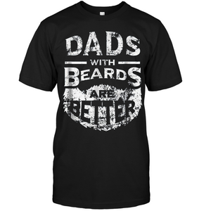 Dads with Beards are Better Father's Day Gifts Distressed T shirt