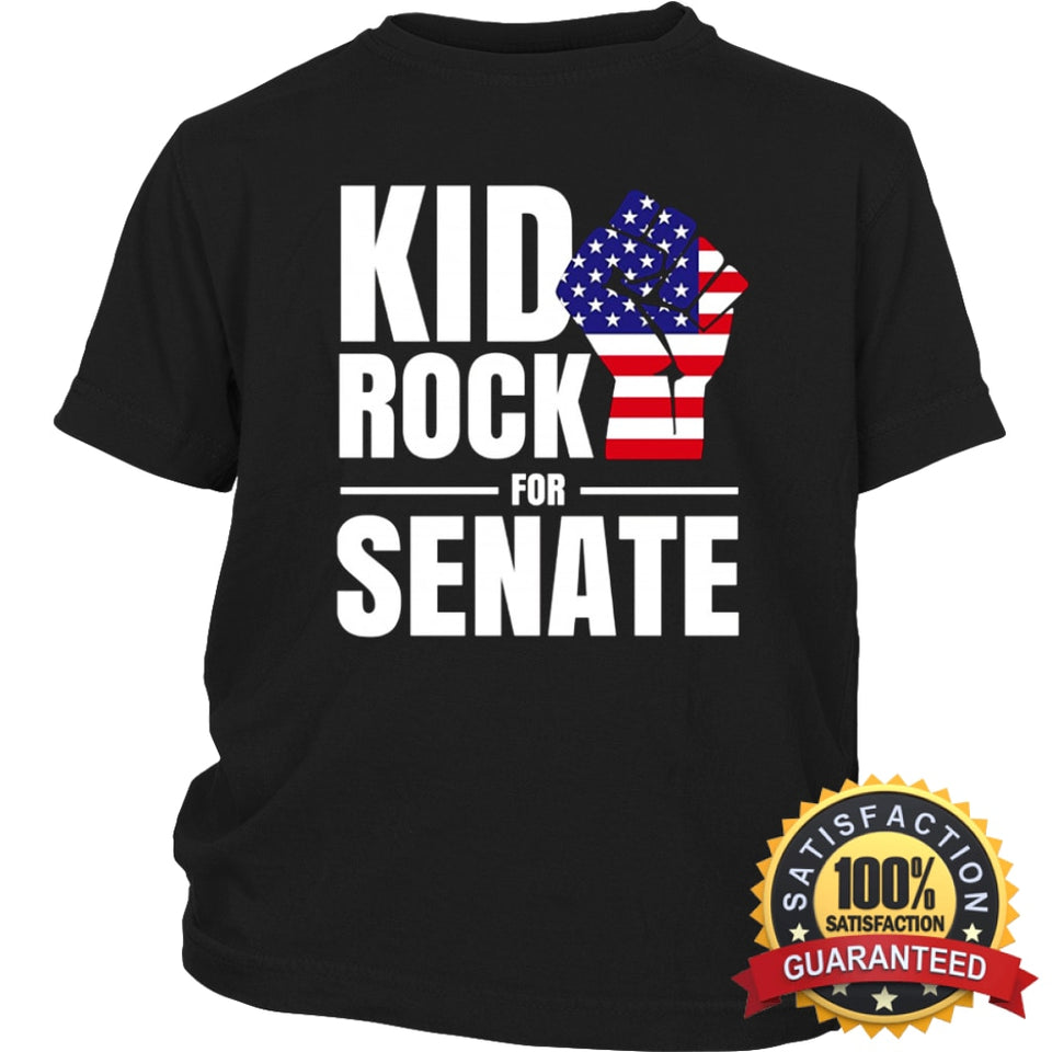 55d9944cb ... Kid Rock For Us Senate 2018 T-Shirt District Youth Shirt / Black Xs T  ...
