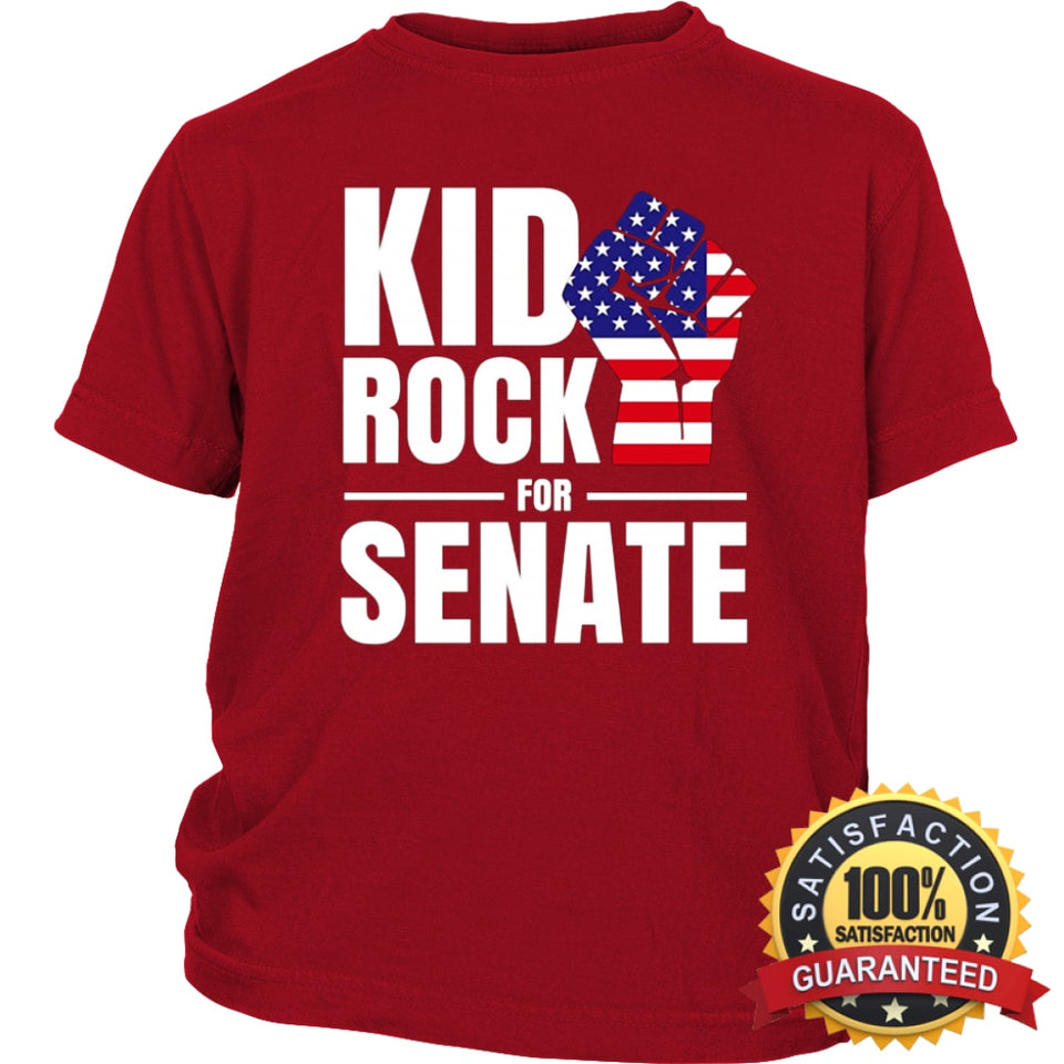0aa9acd1f ... Kid Rock For Us Senate 2018 T-Shirt District Youth Shirt / Red Xs T ...