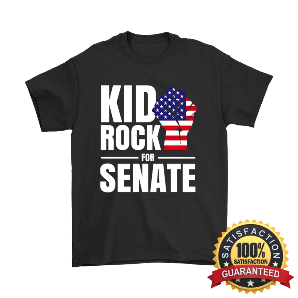 2b6d75ba0 Kid Rock For Us Senate 2018 T-Shirt Gildan Mens / Black S T- ...