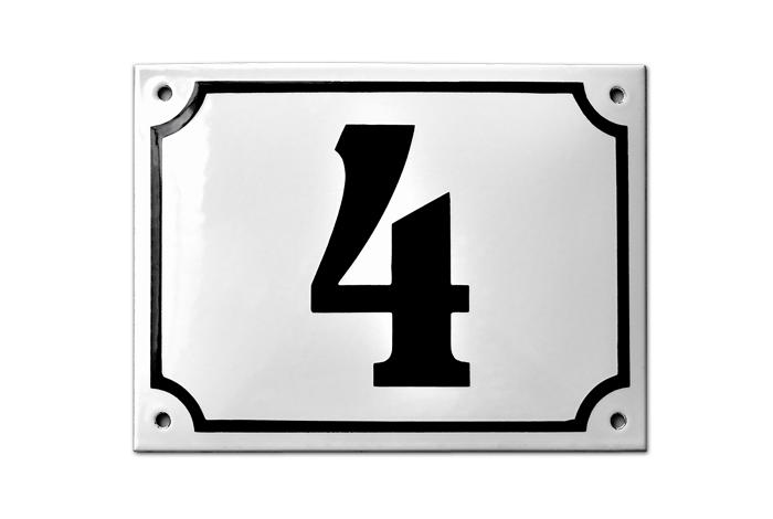 MARSELISBORG STOCKED HOUSE NUMBER PLAQUE - RAMSIGN.CO.UK