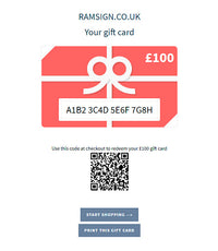 GIFT CARD - RAMSIGN.CO.UK