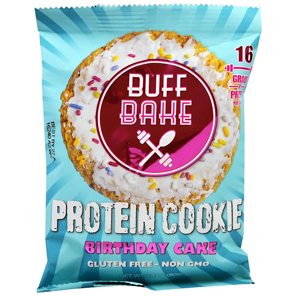 Buff Bake Protein Cookie Birthday Cake 12 Cookies 282 Oz 800 G Each