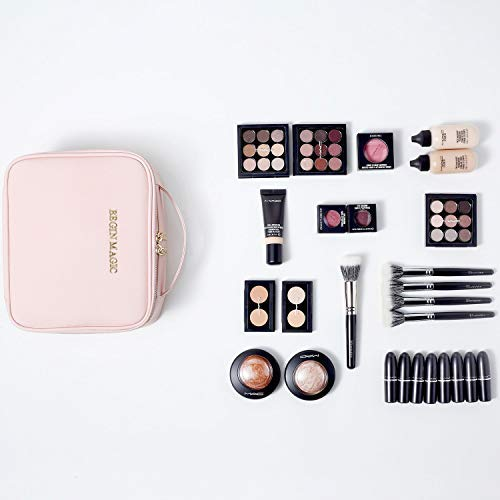 36aee15778e BEGIN MAGIC Mini Makeup Train Case/Portable makeup bag/Small Cosmetic  Organizer Case PINK