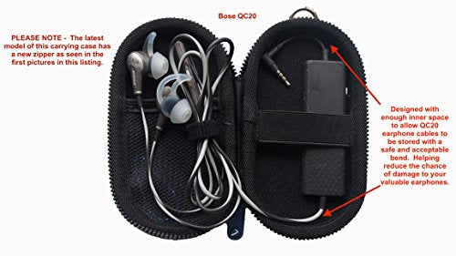 a833555006e Carrying Case For Bose QuietComfort 20 (QC20/QC20i), Bose SoundSport  In-Ear, Bose SoundSport Wire.