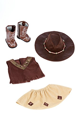 c1ccbdaa3ece4 Dolls - DreamWorld Collections - Cowgirl - 4 Piece Outfit - Cowgirl ...