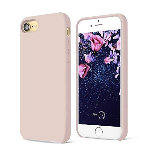 on sale a9d39 8d8e6 SURPHY iPhone 8 Case, iPhone 7 Case, Liquid Silicone Gel Rubber Shockproof  Case with Soft Microfiber Cloth Lining Cushion for Apple iPhone 8 (2017) /  ...