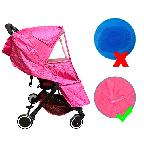 Outdoor Use Travel-Friendly Wonder buggy Universal Stroller Weather Shield Rain Cover Black Cotton Warm Protection Easy to Install and Remove Waterproof Snow Cover