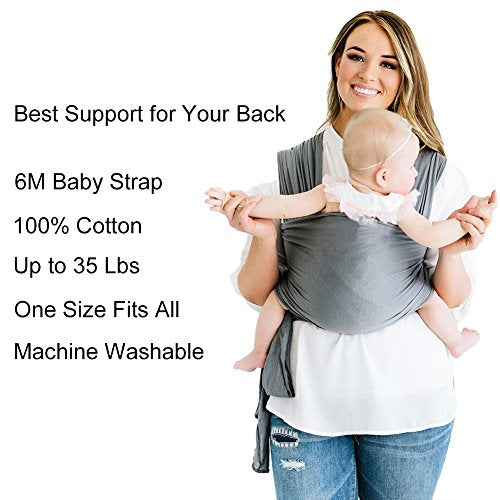 Other Carriers Slings Wistic Baby Wrap Carrier All In 1 Stretchy