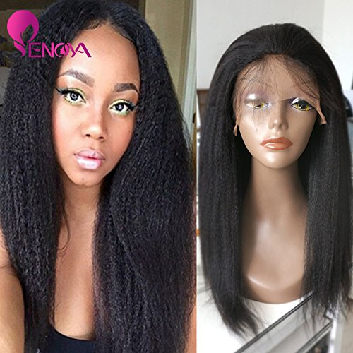 Wigs Natural Looking Italian Yaki Lace Front Wigs Silk Top Lace