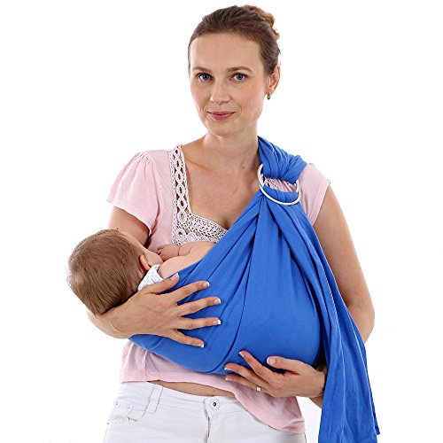 b628efb91e2 ThreeH Ring Sling Baby Carrier Wrap Organic Cotton for Infants and Newborns  BC14