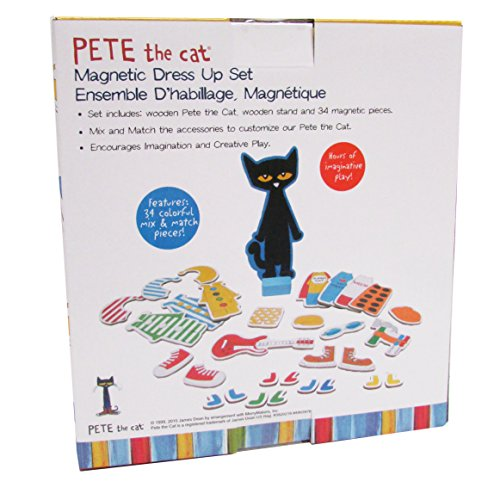 NEW Kids Preferred Pete The Cat Wood Magnetic Dress Up Set 34 Piece SHIPS FREE