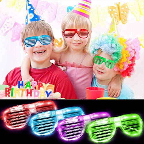 6fe6703a9fe LED Glasses Glow in The Dark Party Favor for Kids Adults 5 Color Light Up  Glasses Light Up Toy Ra.