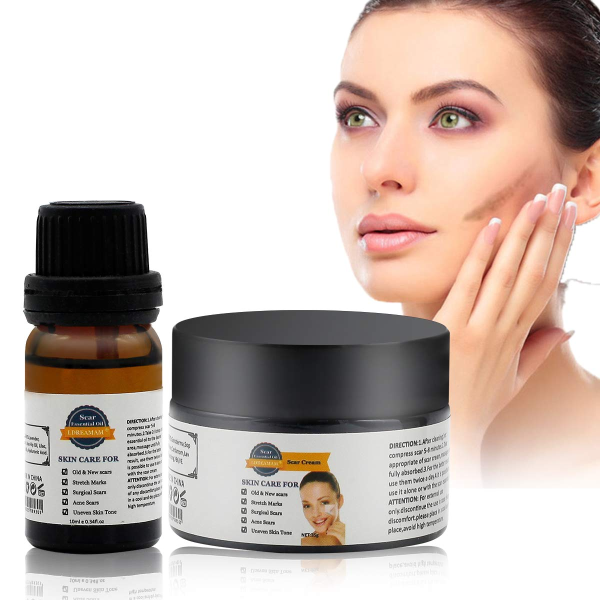 Acne Scar Removal Cream,Scar Cream,Scar Essence,Skin Repair Cream,Treatment  for FaceBody Scar,Acn