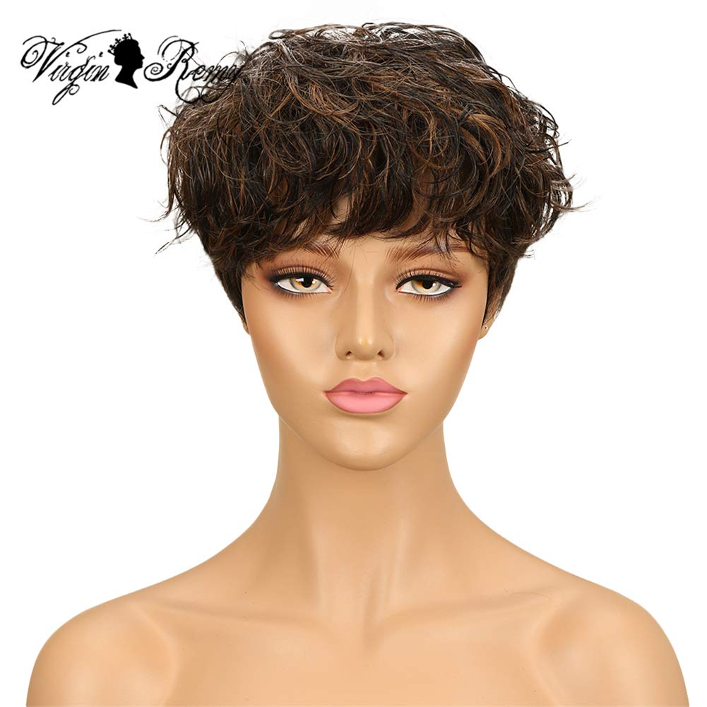 QVR Ombre Two Tone Wig 1B 30 Short Curly