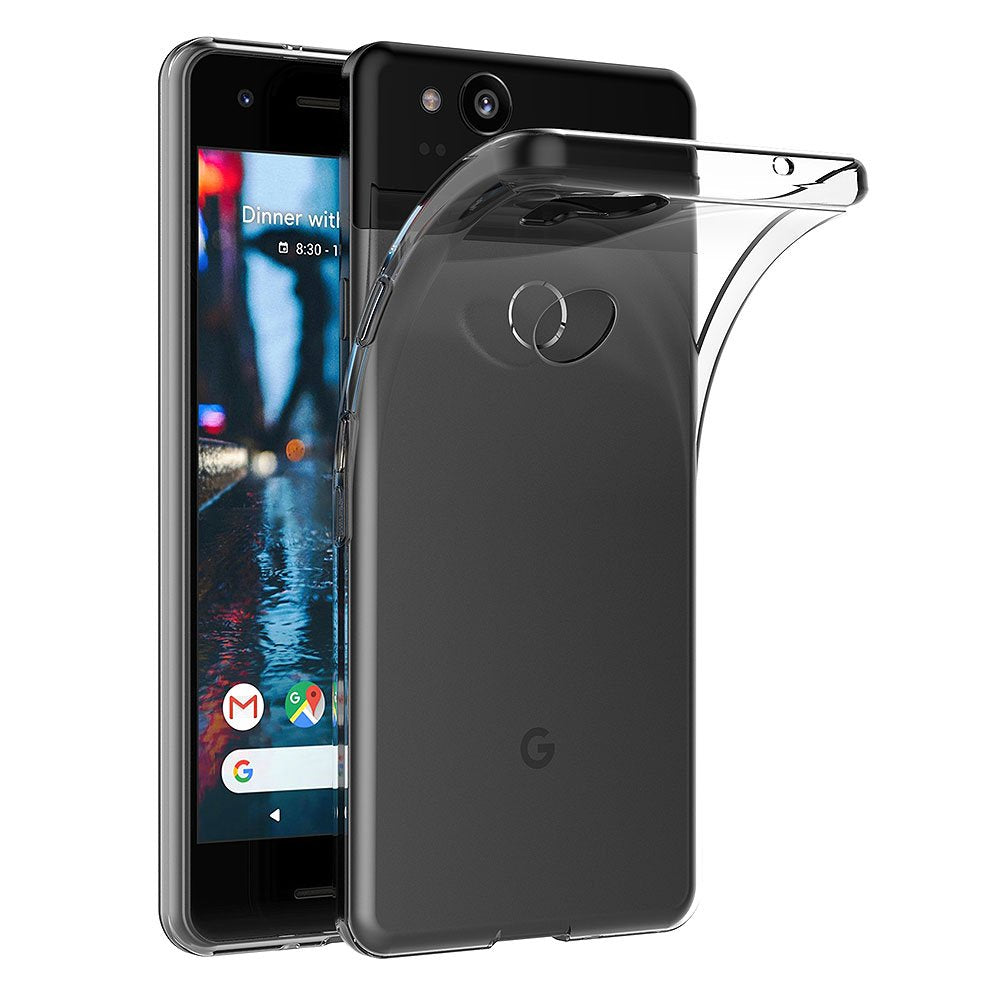 more photos 7321f eada3 AICEK Google Pixel 2 Case, Transparent Silicone Cover for Google Pixel 2  Bumper Covers Clear Case...