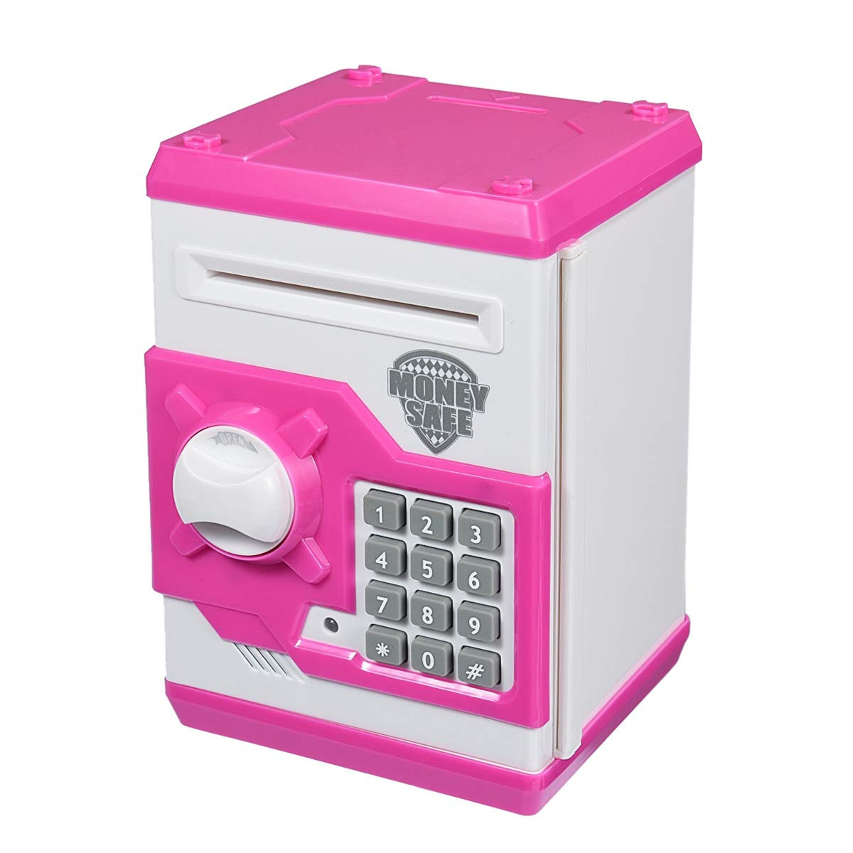 APUPPY Cartoon Password Piggy Bank Cash Coin CanElectronic Money BankBirthday Gifts Toy F