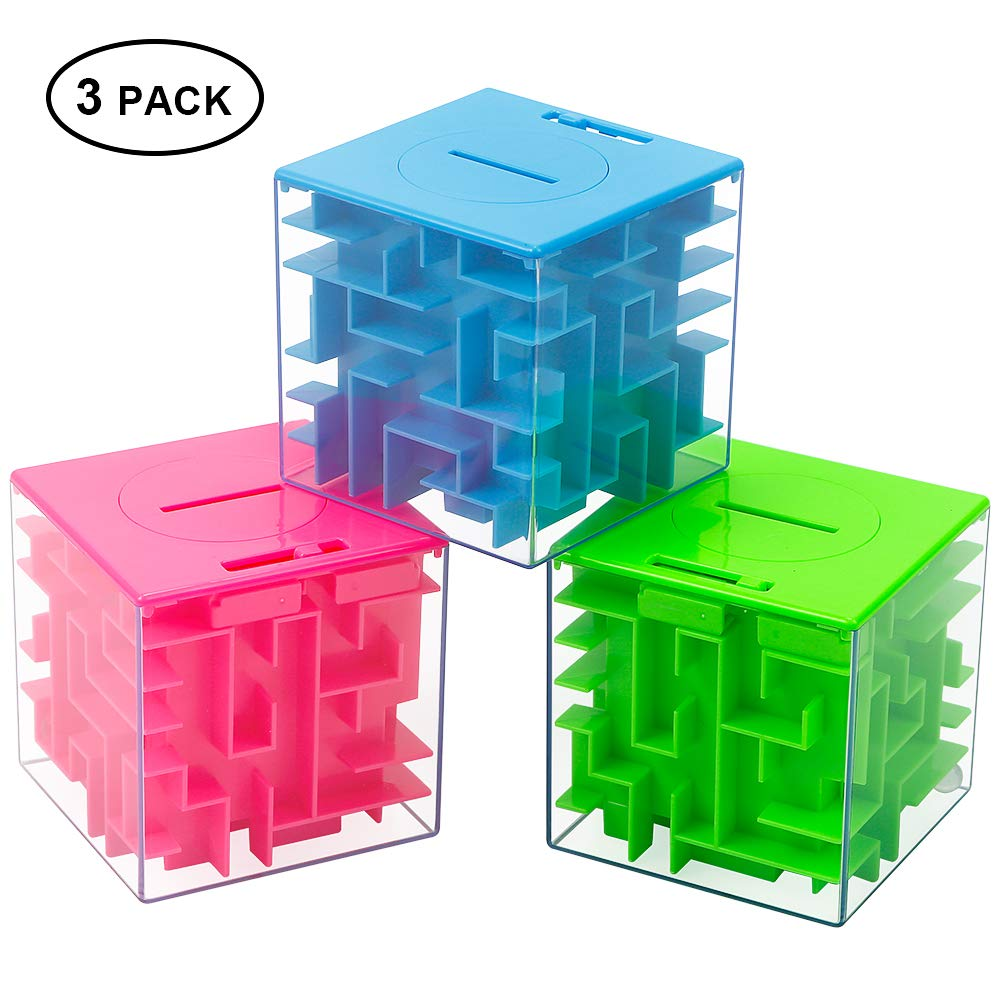 Thinkmax Money Maze Puzzle Box Puzzle Money Holder Gift Box For Kids And Adults Unique Way To G