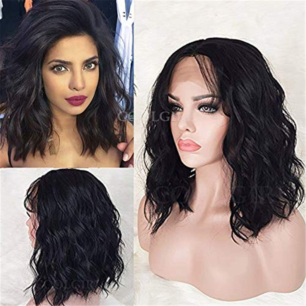 COOLGIRL Short Wavy Hair Synthetic Lace Front