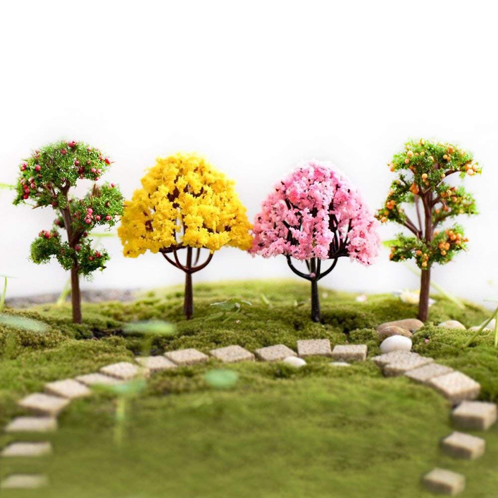 YEDREAM 8 Pcs Model Trees , Diorama Models, Model Train Scenery,  Architecture Trees, Miniature La