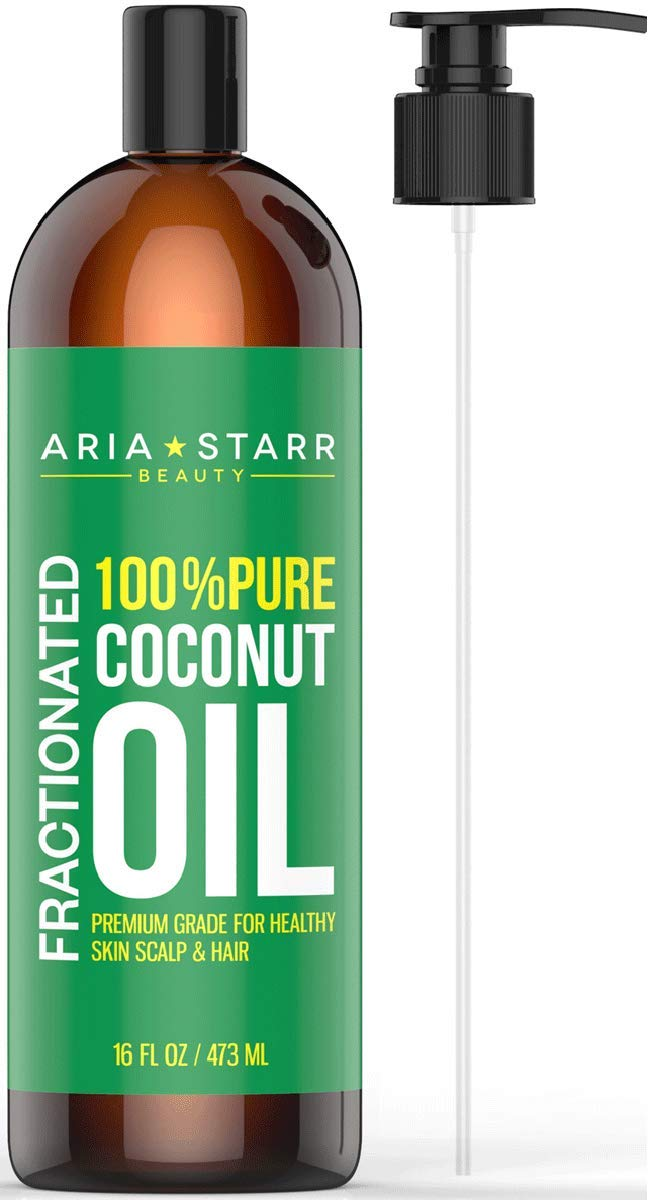Aria Starr Fractionated Coconut Oil (16 OZ Pump) Best Carrier Oil For  Essential Oils, 100% Pure