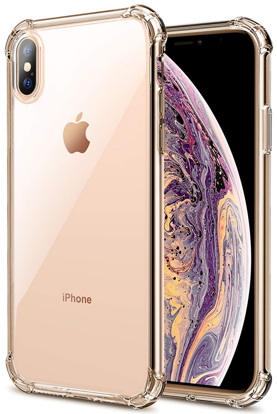 pretty nice 31cdc 824f6 Matone iPhone Xs Max Case, Crystal Clear Slim Protective Cover with  Reinforced Corner Bumpers, Fl...