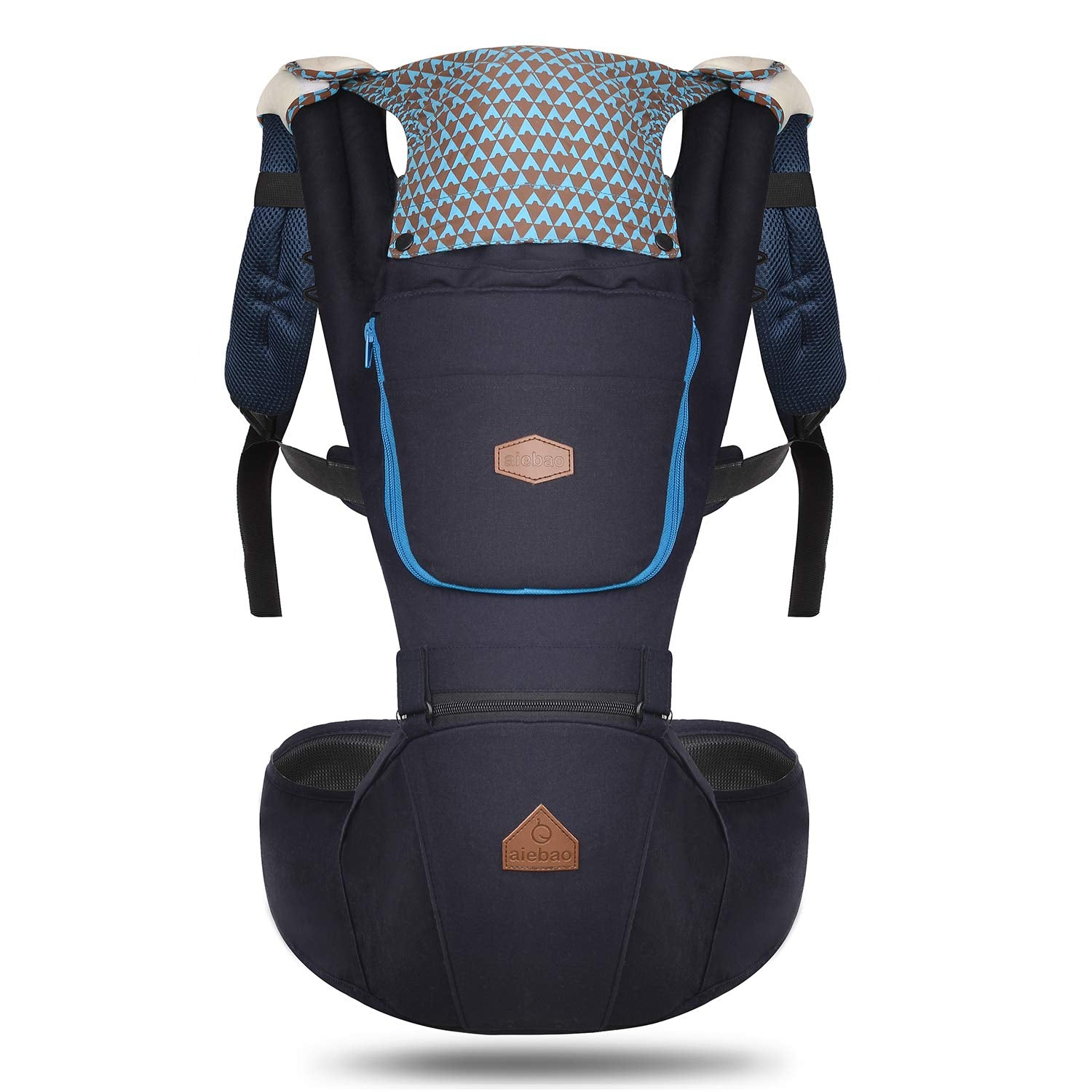 12e3325cc07 360 Ergonomic Baby Carrier with Hip Seat - AIEBAO Baby Backpack Carrier for  Men Baby Carriers Fro.